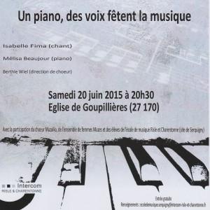 AFFICHE CONCERT Piano Voix